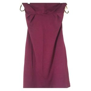 Aritzia Kinsley Purple Strapless Dress Size XS